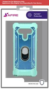 Lg Stylo 6 MM Magnetic Rugged Bling Case W ks Teal
