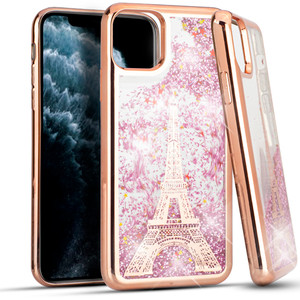 Iphone 11 Water Glitter Case Paris
