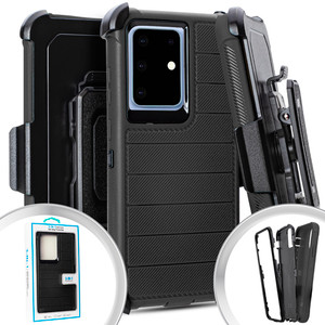 Samsung S20 Rugged Combo With Holster Black