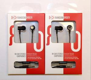 In-Ear Stereo Headphones Earbuds In Line Mic Random Order