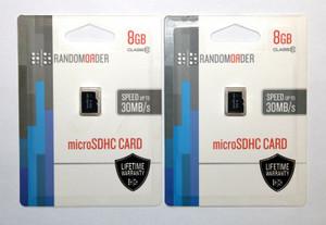 8GB microSDHC Card Speed up to 30MB/s Class 10 Random Order