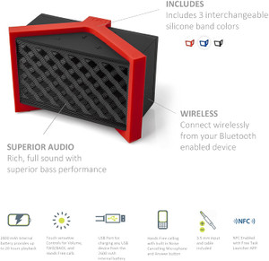TYLT TUNZ Rechargeable Bluetooth Speaker with NFC Bulk Packaging