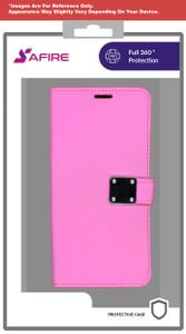 Lg Stylo 6 MM Premium Folio Wallet Hot Pink