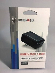 Random Order Universal Travel Charger with Dual USB Ports 4.8A/24W
