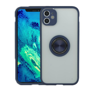IPhone 11 MM Clear Magnet ring Stand Case Navy