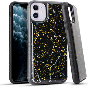 Iphone 11 Marble Case Black And Gold