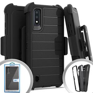 Samsung A01 MM Rugged W/Holster Black