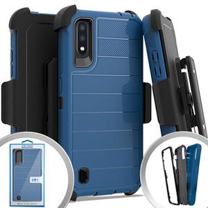 Samsung A01 MM Rugged Case W/Holster Navy