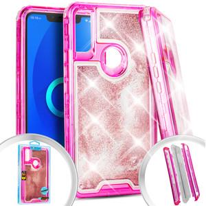 Alcatel 3V Water Glitter Hybrid Hot Pink