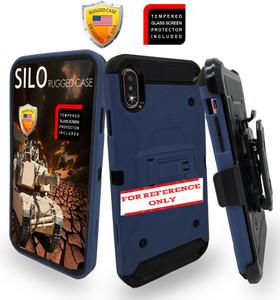 Samsung A21 MM Silo Rugged Case Navy