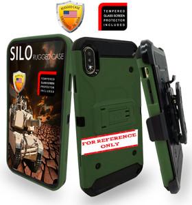 Samsung A21 MM Silo Rugged Case Army Green