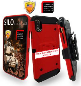 Samsung A21 MM Silo Rugged Case Red