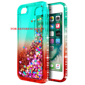 Samsung A21 MM Water Glitter Case Green and Red