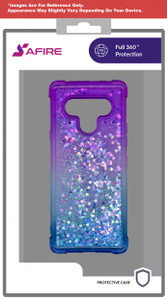 Lg Stylo 6 MM Water Glitter Case Blue and Purple