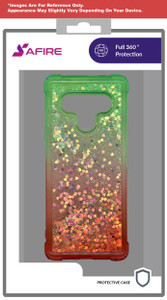 Lg Stylo 6 MM Water Glitter Case Green and Red