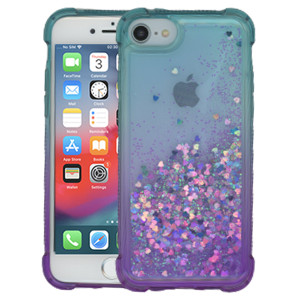 Iphone 8/7/SE 2020 MM Water Glitter Case Teal and Purple