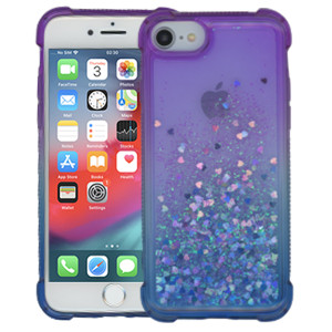 Iphone 8/7/SE 2020 MM Water Glitter Case Blue and Purple