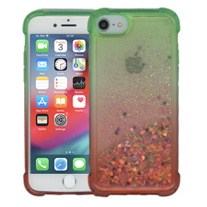 Iphone 8/7/SE 2020 MM Water Glitter Case Green and Red
