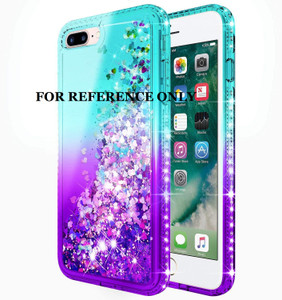 Iphone XR MM Water Glitter Case Teal and Purple