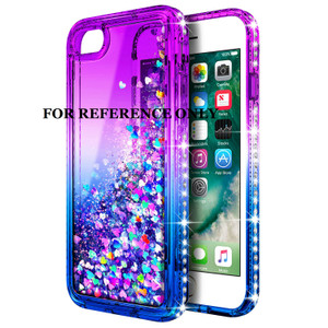 Iphone XR MM Water Glitter Case Blue and Purple