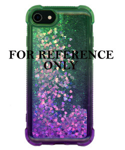 Iphone XR MM Water Glitter Case Green and Purple