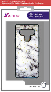 Samsung A21 MM Marble Case Chrome White