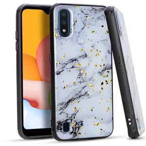 Samsung A01 MM Marble Chrome White
