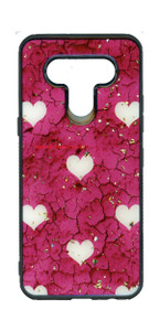 Moto G Stylus MM Marble Case Hot Pink With Heart