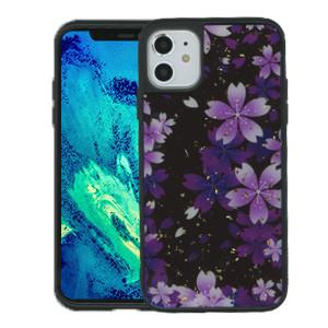Iphone 11 MM Marble Purple Flower