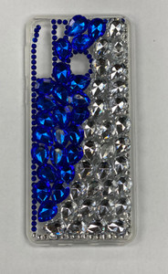 Samsung A21 MM 3D Bling Blue With Silver