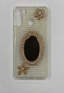 Samsung A21 MM 3D Bling Silver With Mirror
