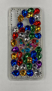 Samsung A21 MM 3D Bling Colorful With Heart