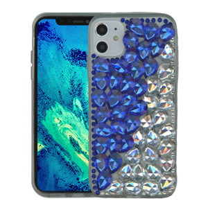 Iphone 11 MM 3D Bling Blue With Silver