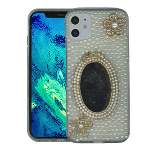 Iphone 11 MM 3D Bling Silver With Mirror