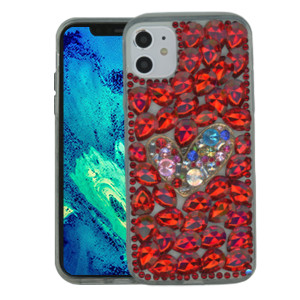 Iphone 11 Pro Max MM 3D Bling Red With Silver