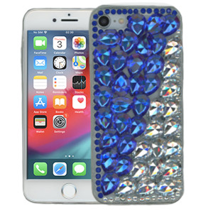 Iphone 8/7/SE 2020 MM 3D Bling Blue With Silver