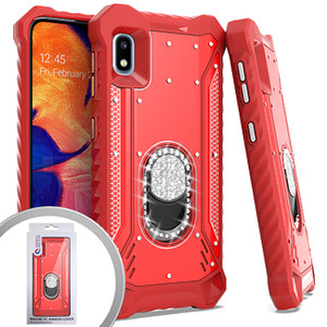 Samsung A21 MM Magnetic Rugged Bling W KS Red