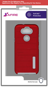 Lg Stylo 6 MM Deluxe Bushed Metal Case Red