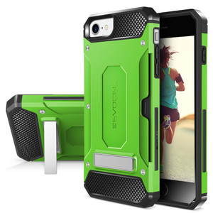 Iphone 8/7/ SE 2020  MM Armor Case With Kickstand And Credit Card Slot Green