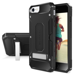 Iphone 8/7/ SE 2020 MM Armor Case With Kickstand And Credit Card Slot Black