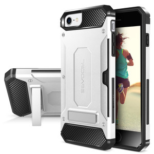 Iphone 8/7/ SE 2020 MM Armor Case With Kickstand And Credit Card Slot Silver