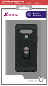Motorola E7 MM Ringstand Case Black