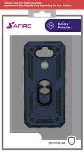 Motorola E7 MM Rugged Ringstand Case Navy Blue
