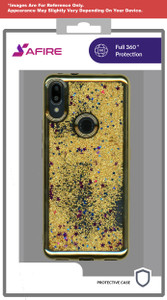 Motorola E7 MM Electroplated Water Glitter Case Gold