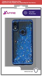 Motorola E7 MM Electroplated Water Glitter Case Blue