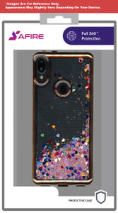 Lg Aristo 5+ MM Electroplated Water Glitter Case  Rose Gold