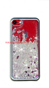 Samsung A11 MM Electroplated Water Glitter Case Silver