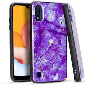 Samsung A01 MM Marble Case Purple