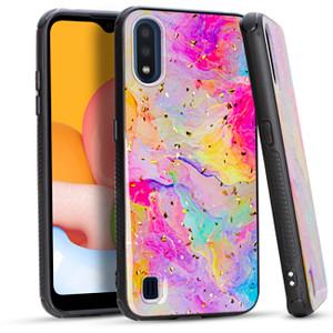 Samsung A01 MM Marble Case Rainbow