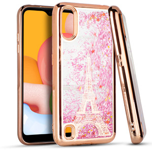 Samsung A01 MM Electro Water Glitter Rose Gold Tower